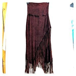Dresses & Skirts - Fringe maxi skirt